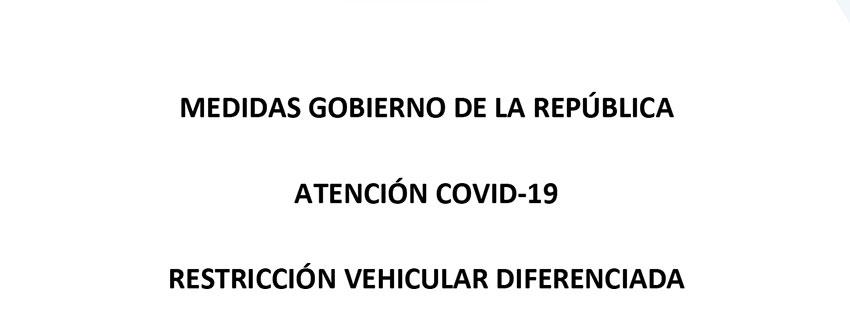 Medidas restriccion vehicular diferenciada