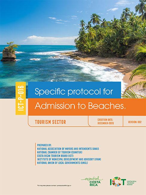 PROTOCOLO 16.  Admission to Beaches