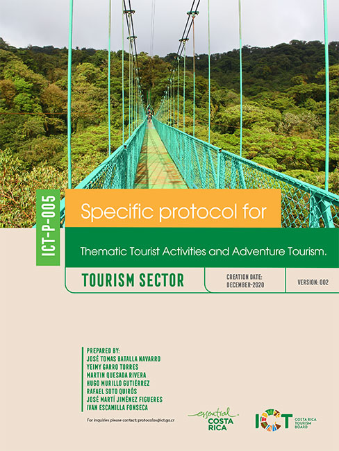 PROTOCOLO 05.  Thematic Tourist Activities and Adventure Tourism