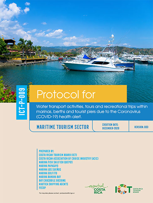 PROTOCOLO 09.  Water transport activities, tours and recreational trips within