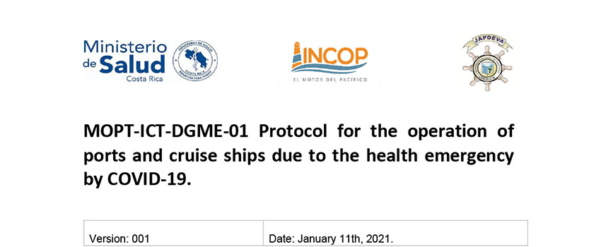 Protocol for the operation of ports and cruise ships v1