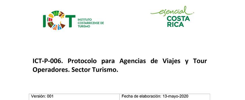 Protocolo ICT-P-006 Agencias de Viajes y Tour Operadores Sector Turismo
