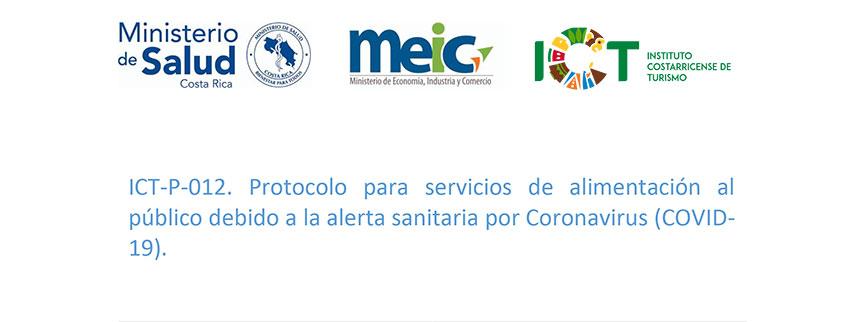 Protocolo ICT-P-008 Protocolo para Servicios de Alimentación al Público debido al COVID 19