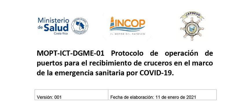 Protocolo de operación de puertos para el recibimiento de cruceros v1