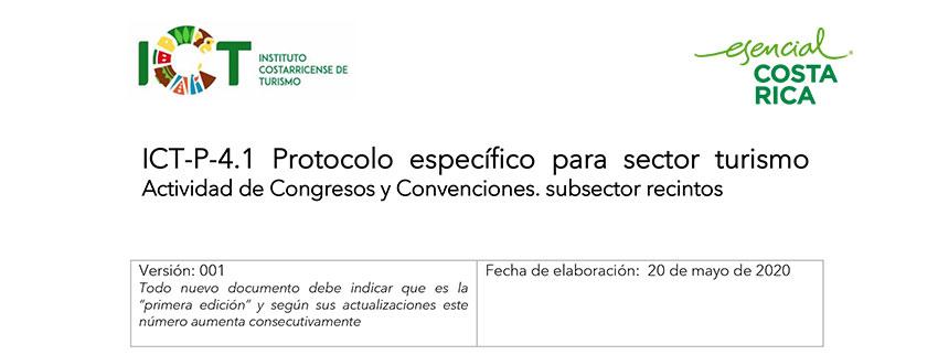 Protocolo ICT-P-004.1 Protocolo Congresos y Convenciones Recintos