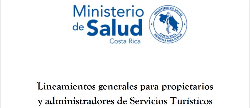 Lineamientos generales para propietarios y administradores de Servicios Turísticos por Coronavirus (COVID-19) 12/03/2020